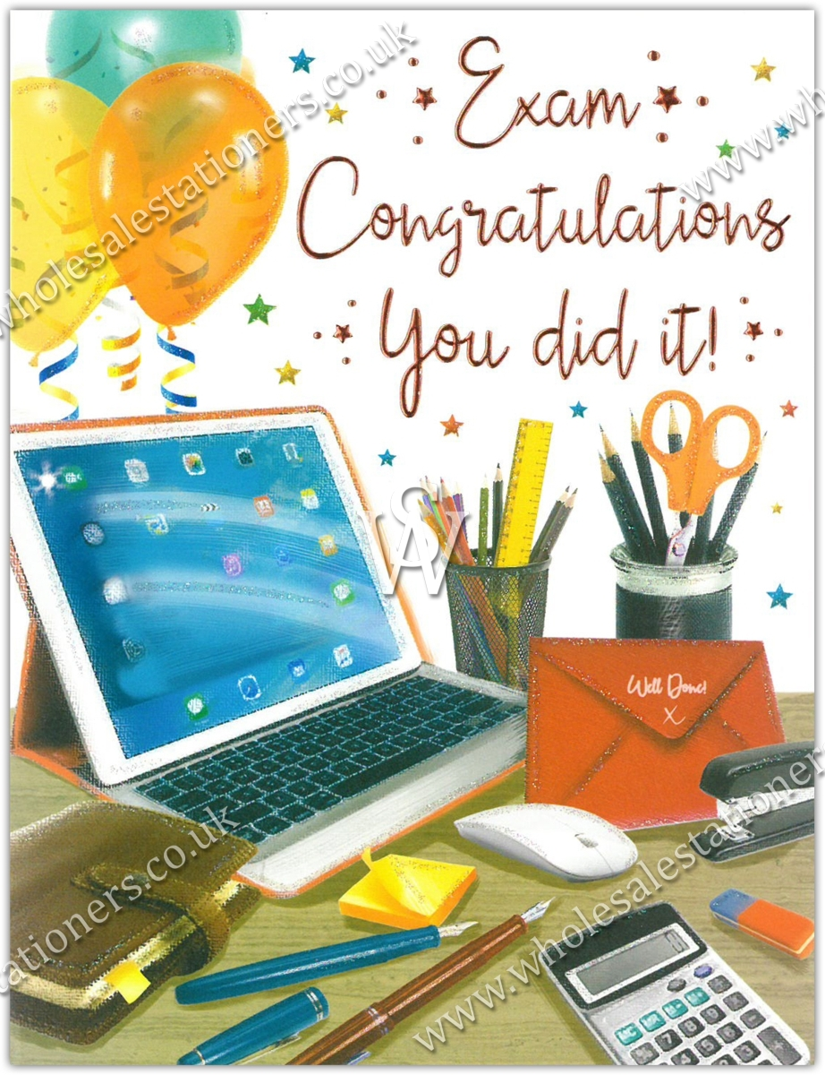 Greeting Cardsexam Congrats 6s Tablet Stationery Wholesale