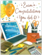 GREETING CARDS,Exam Congrats. 6's Tablet & Stationery