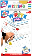 EDUCATIONAL BOOK,Wipe Clean, A5, Learn To Write. H/pk