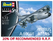 "REVELL Model Plane,Airbus A400M ""Luftwaffe"" 1:72 (-20%)"