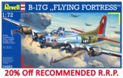 REVELL Model Plane,B-17G Flying Fortress 1:72 (-20%)