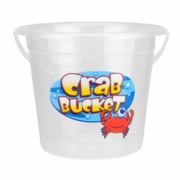 BUCKET,Crabbing Lge 11in Clear 9 Litre