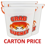 BUCKET,Crabbing Lge Clear 11in (Multi Carton Price,3x48pc)
