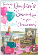 GREETING CARDS,Daughter & Son in Law 6's Champagne Picnic