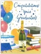 GREETING CARDS,Graduation Congrats. 6's Balloons