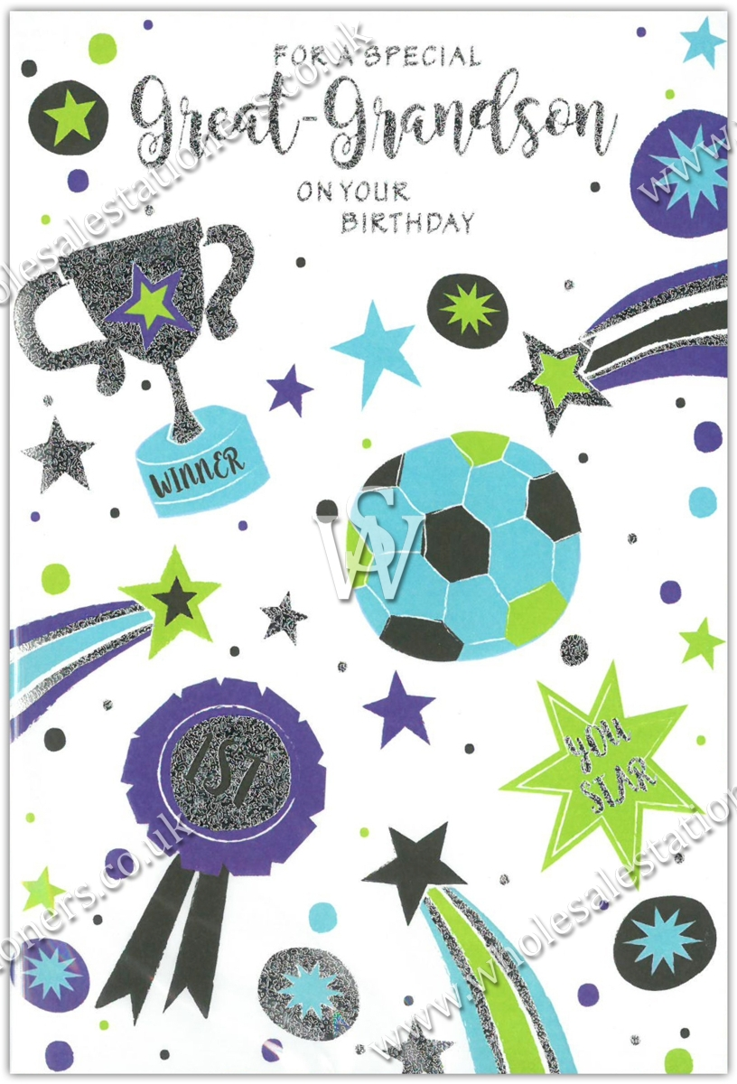 Greeting Cards Great Grandson 12 S Presents Sport Wholesale Stationers
