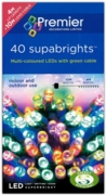 LIGHTS,Supabrights Multi Coloured LED 40's Boxed