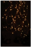 LIGHTS,LED Dewdrop Amber Battery Operated 25's H/pk