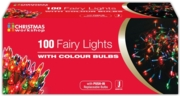 TREE LIGHTS,Indoor Multi Coloured 100's Boxed