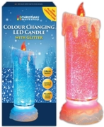 CANDLE,LED Flicker Water Colour Changing 24cm