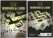 DOMINOES & CARDS 28pc Double Six + 2 Decks Playing Cards Bx
