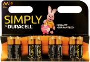 DURACELL SIMPLY Batteries AA 8's I/cd