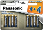 PANASONIC Alkaline Batteries AA 4+4 FOC I/cd