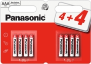 PANASONIC Zinc Batteries AAA 4+4 FOC I/cd