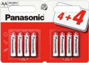 PANASONIC Zinc Batteries AA 4+4 FOC I/cd