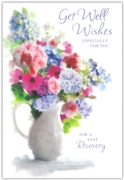 GREETING CARDS,Get Well 12's Floral