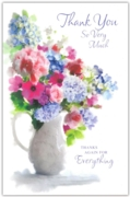 GREETING CARDS,Thank You 12's Floral