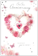 GREETING CARDS,Our Anni.6's Floral Heart