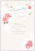 GREETING CARDS,Sympathy 6's Floral Dove