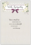 GREETING CARDS,Sympathy 6's Floral Text