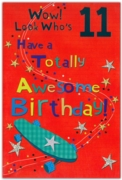 GREETING CARDS,Age 11 Male 12's Skateboard/Football
