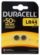 DURACELL LR44 Batteries Button Cell Alkaline 1.5v 2's I/cd
