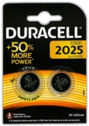 DURACELL Batteries Button Cell 2025 3V Lithium 2's I/cd