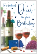GREETING CARDS,Dad 6's Red Wine
