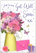 GREETING CARDS,Get Well 6's Floral