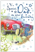 GREETING CARDS,Dad 6's Vintage Sports Car