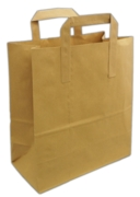 "CARRIER BAG,Kraft Brown Paper 10 x15.5 x12"" 70gsm,250's"