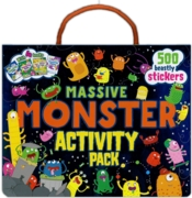 ACTIVITY PACK,Monsters 4 Books + 500 Stickers Boxed