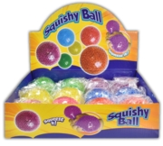 SQUISHY BALL,6 Assorted Colours CDU