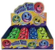 WATER BALL,65mm,Smiley Face Hi Bounce with light Assorted.