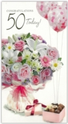 GREETING CARDS,Age 50 Female 6's Floral Chocolates