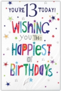 GREETING CARDS,Age 13 Male 12's Pastimes/Stars
