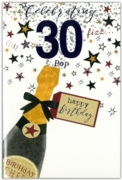 GREETING CARDS,Age 30 Male 12's Balloons/Birthday Bubbly