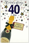 GREETING CARDS,Age 40 Male 12's Balloons/Birthday Bubbly