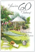 GREETING CARDS,Age 60 Male 6's Garden Hammock