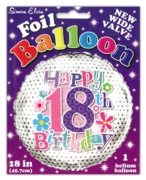 BALLOONS,Age 18 Female Helium Foil