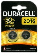 DURACELL Batteries Button Cell 2016 3V Lithium 2's +50% I/cd