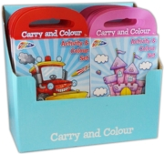 ACTIVTY/COLOURING BOOK, 2 Assorted with 5 Crayons CDU