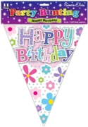 BUNTING,Happy Birthday Flower