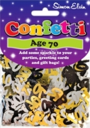 CONFETTI,Table Foil 70th H/pk