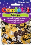 CONFETTI,Table Foil 80th H/pk