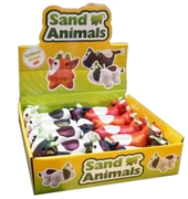 ANIMALS SAND COWS,6in CDU 3 Assorted