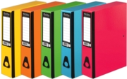 BOX FILE,Pukka Foolscap 5 Assorted Colours