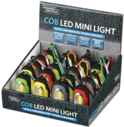 KEYRING,Carabina with Magnet & LED Light, Assorted Col. CDU