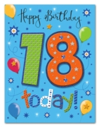 GREETING CARDS,Age 18 Male 6's Stars & Balloons