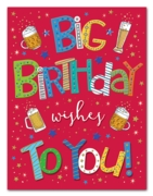 GREETING CARDS,Birthday 6's Beer & Stars
